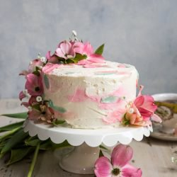 Lemon Cake with Elderflower Buttercream Frosting