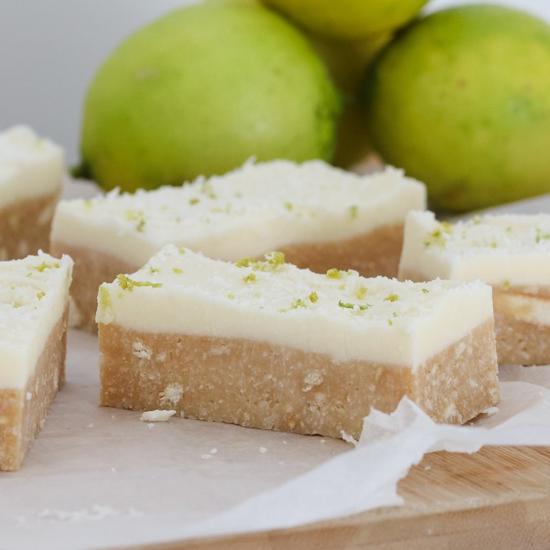 Lime & Coconut Slice - Conventional Method