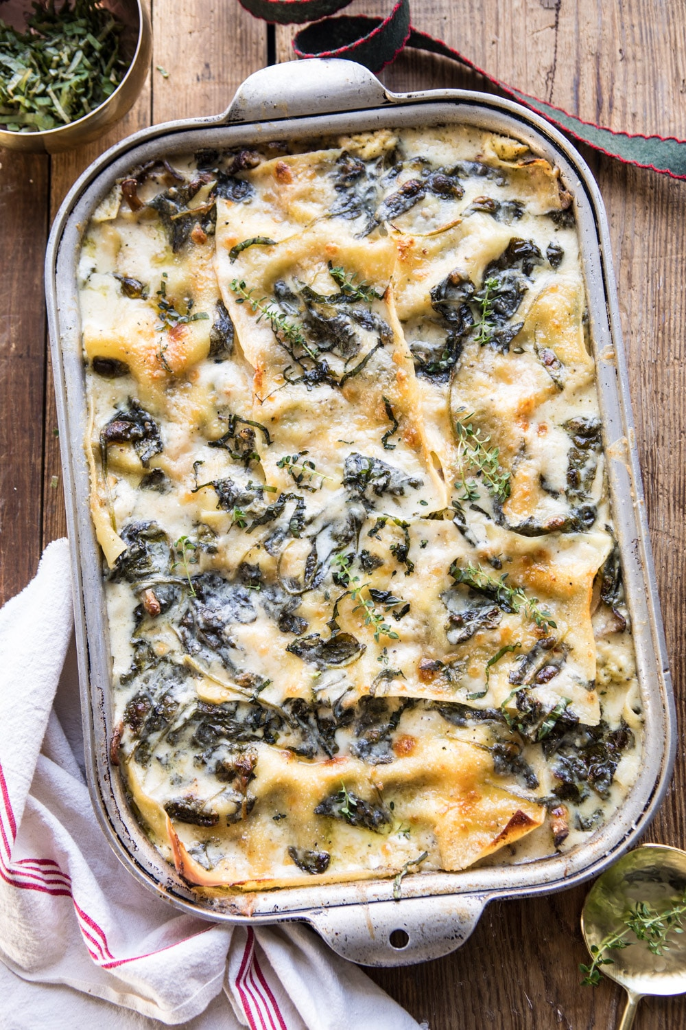 White Pesto Spinach Lasagna