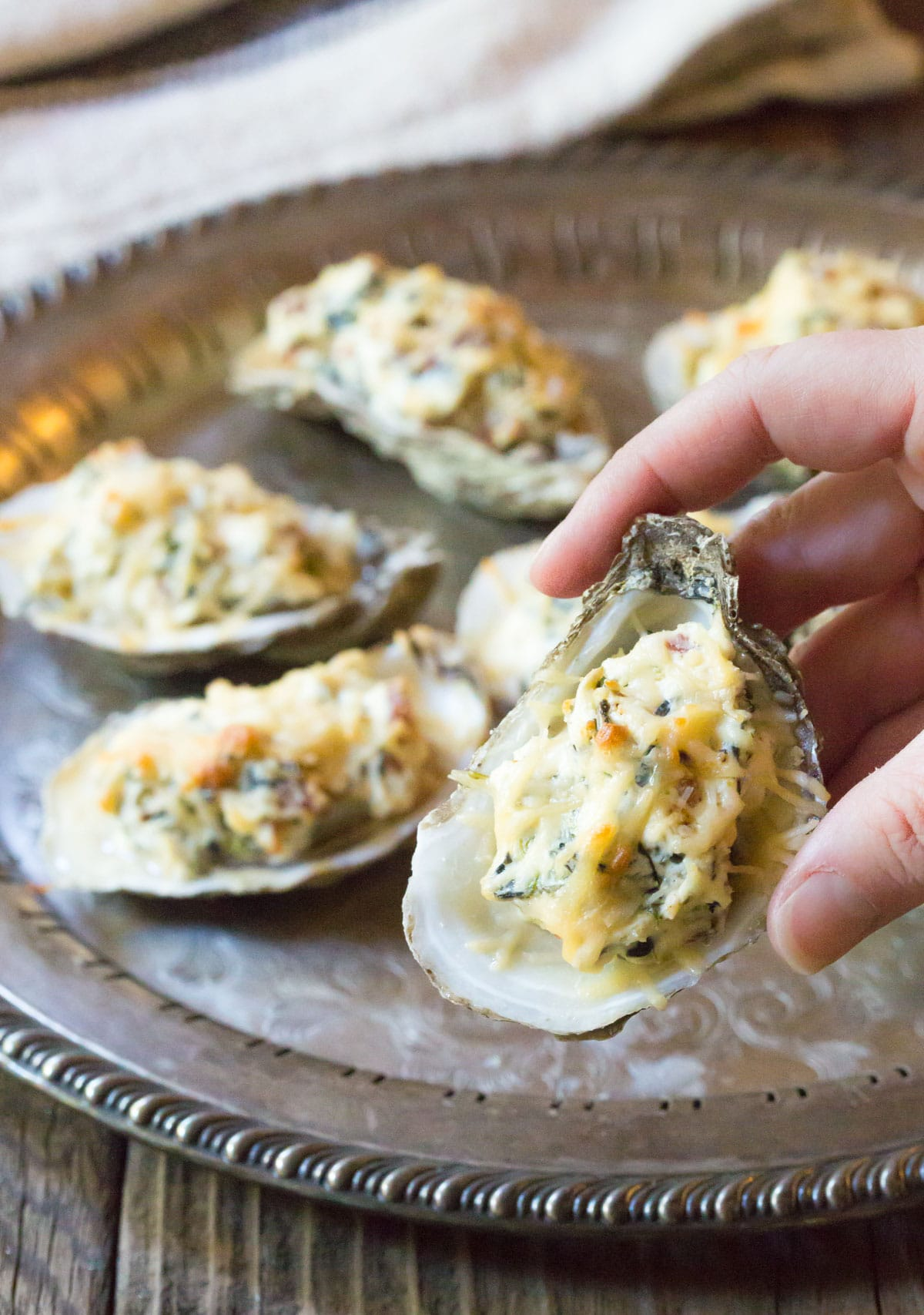 Three-Cheese Baked Oysters Recipe