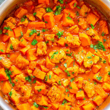 Coconut Lime Chicken and Sweet Potato Curry