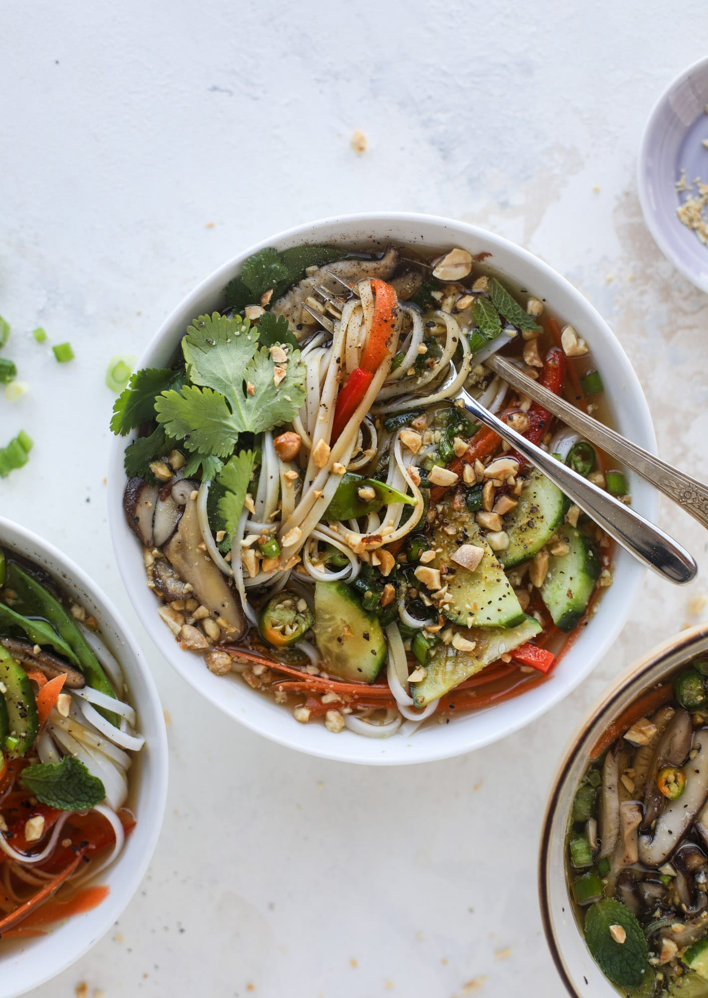 Ginger Scallion Noodle Bowls