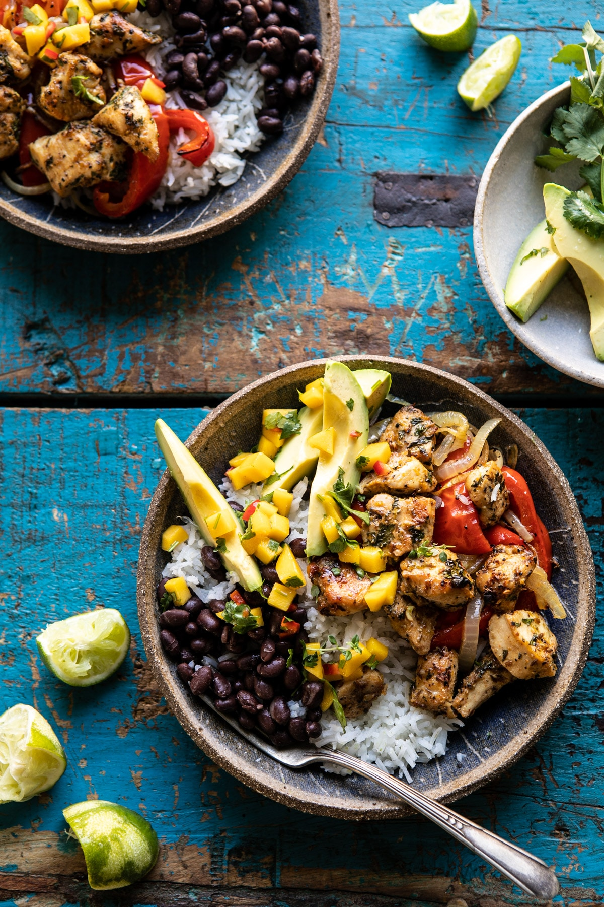 Sheet Pan Cuban Chicken and Black Bean Rice Bowl