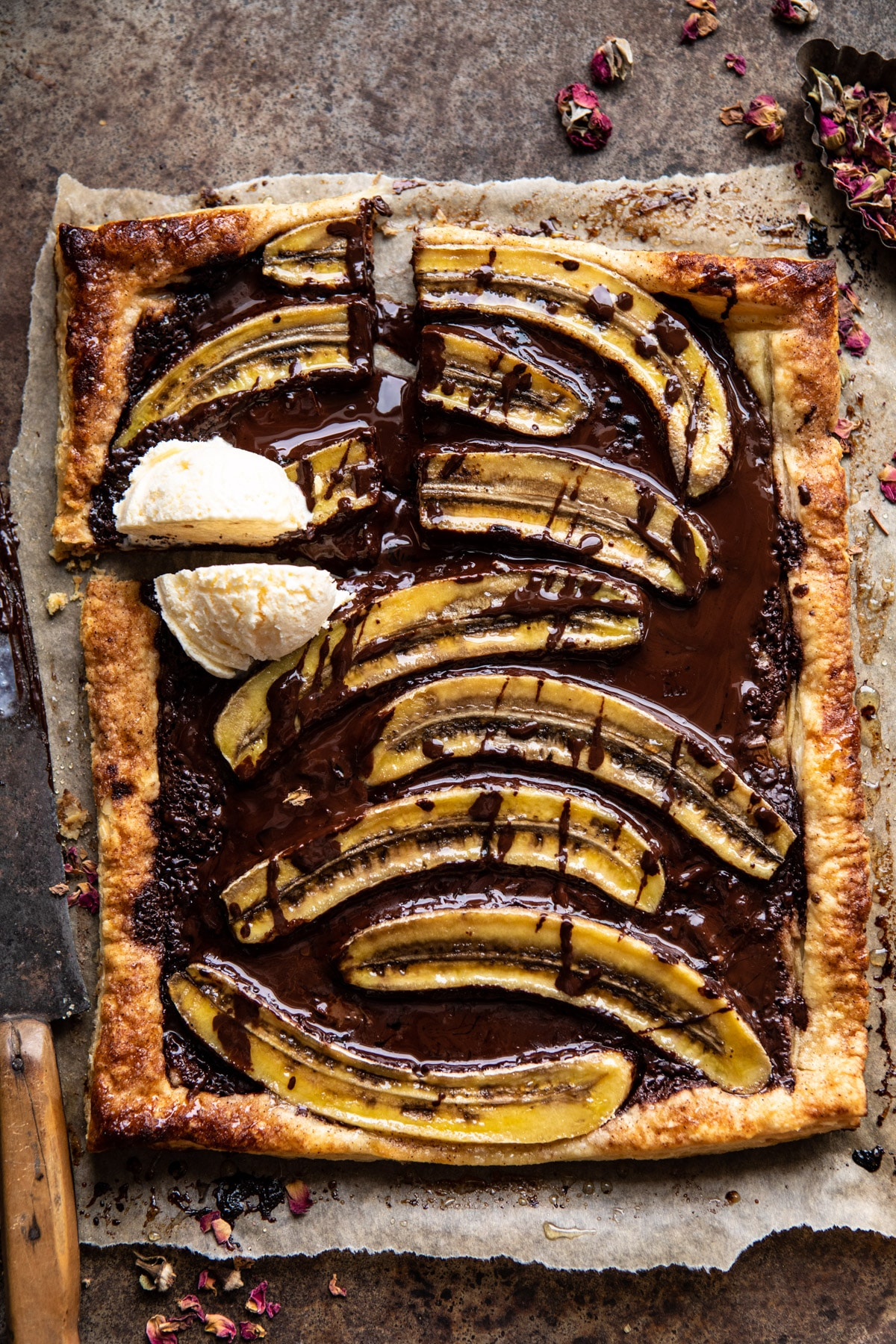 Warm Chocolate Banana Galette