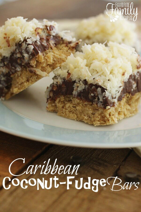 Oatmeal Cookie Coconut Fudge Bars