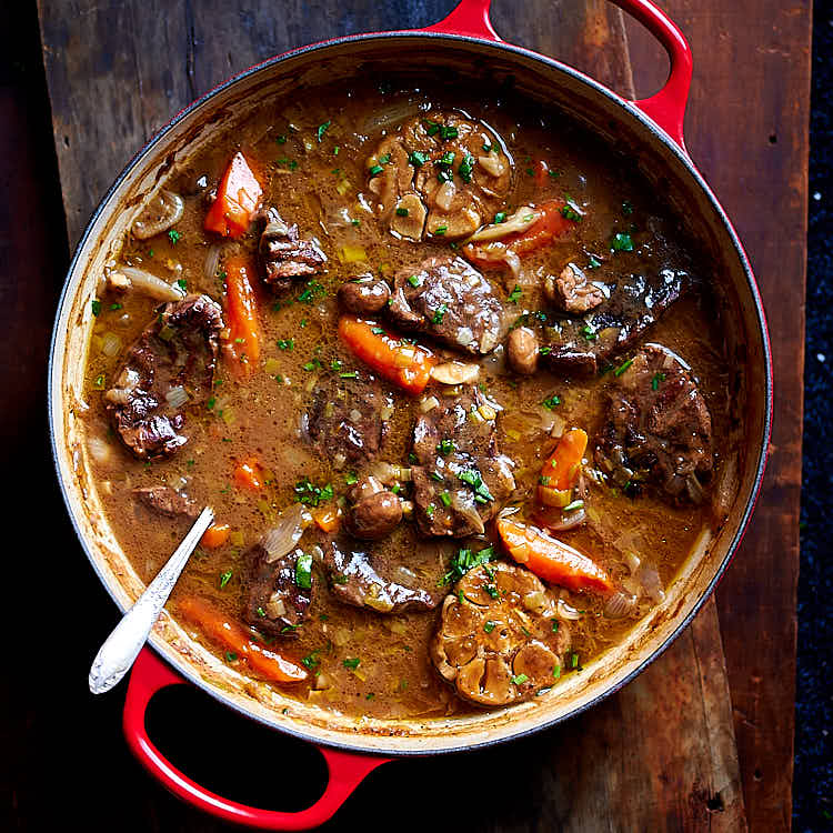 Braised Beef with Gravy-Like Sauce and Vegetables