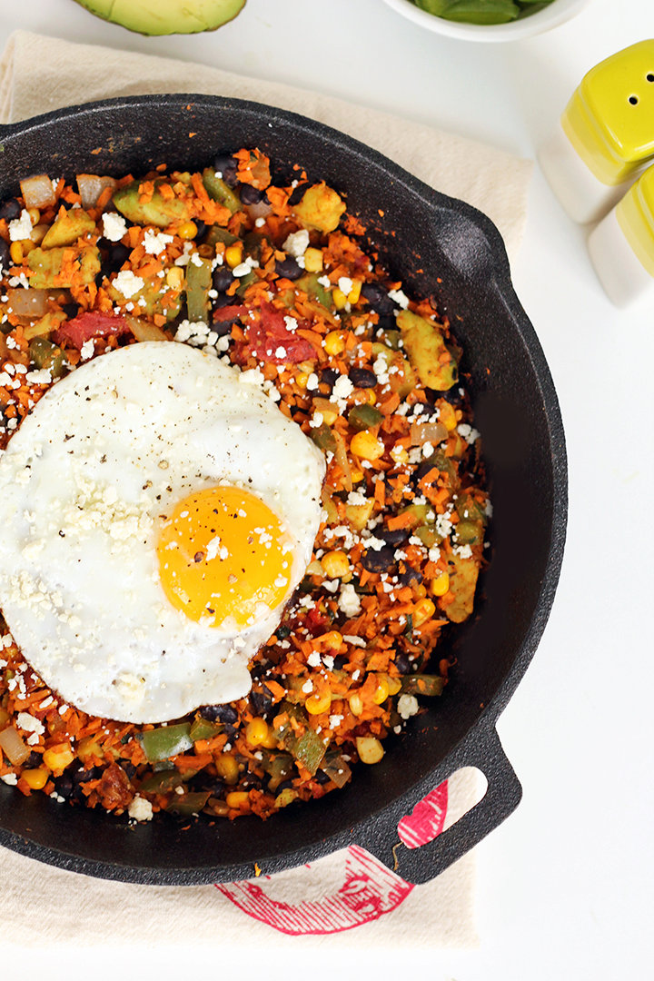 Sweet Potato Rice Mexican Breakfast Skillet