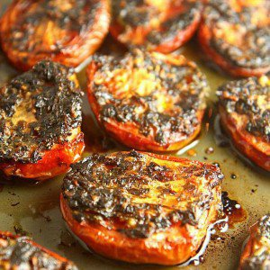 Slow Roasted Tomatoes with Cilantro