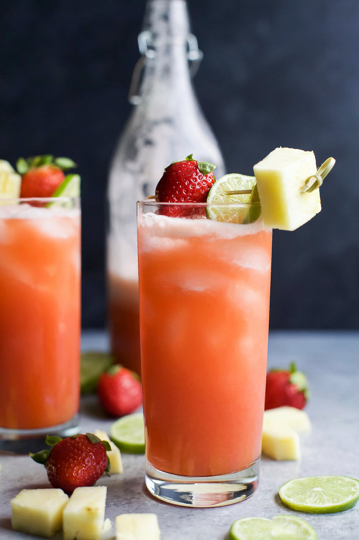Pineapple Strawberry Agua Fresca