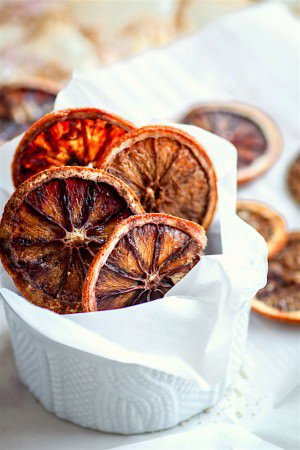 Lightly Sweetened Oven Dried Orange Slices