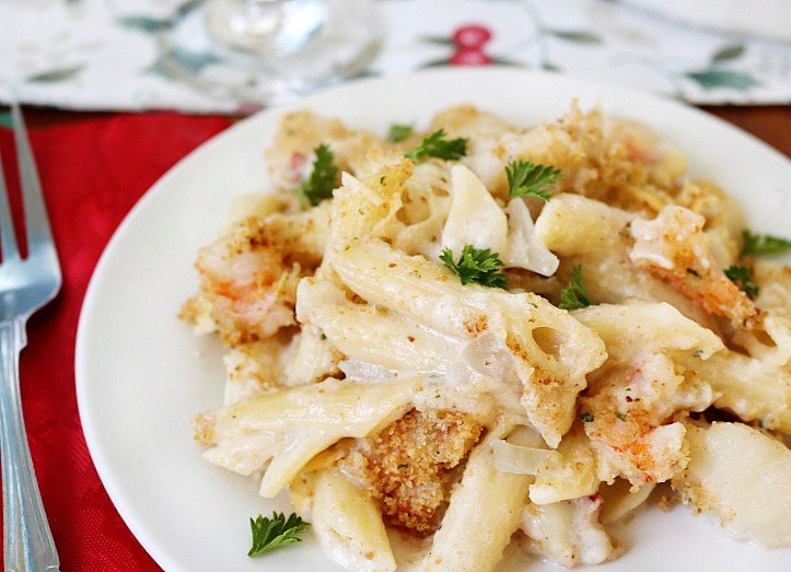Creamy Seafood Pasta Bake- A Family Holiday Tradition