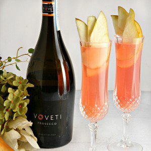 Cranberry Pear Prosecco Cocktail