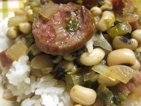 Creole Black-Eyes and Rice for the Crock Pot