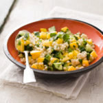 Israeli Couscous with Mango and Cucumber