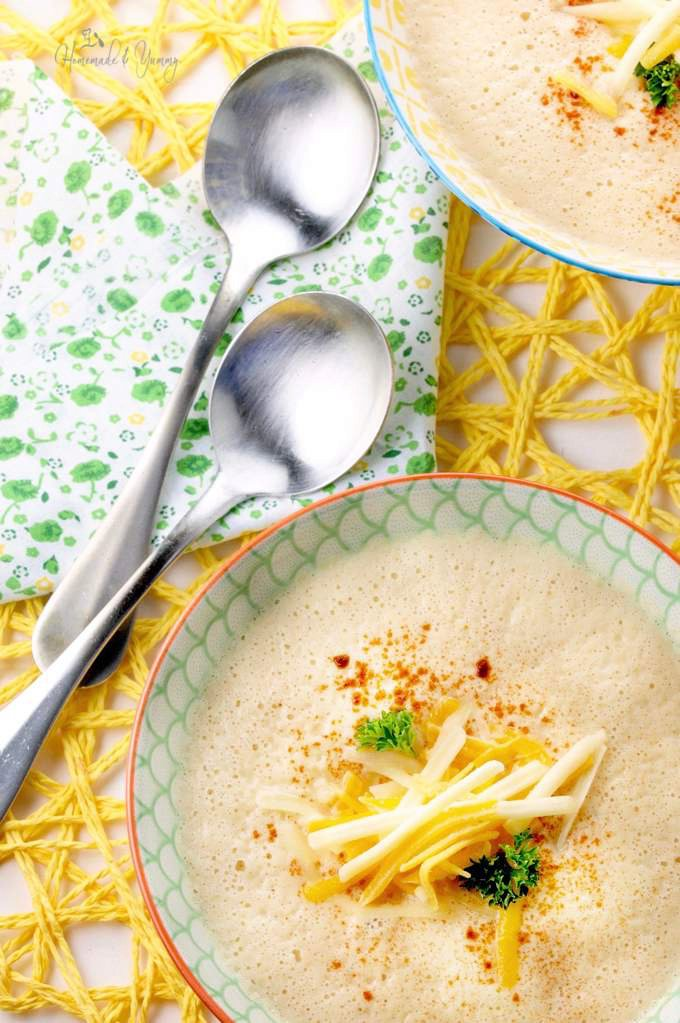 Easy Roasted Cauliflower Blender Soup With Smoked Paprika
