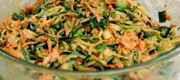 Zucchini Coleslaw :: Grain Free, Nut Free, Egg Free, With Dairy Free Option