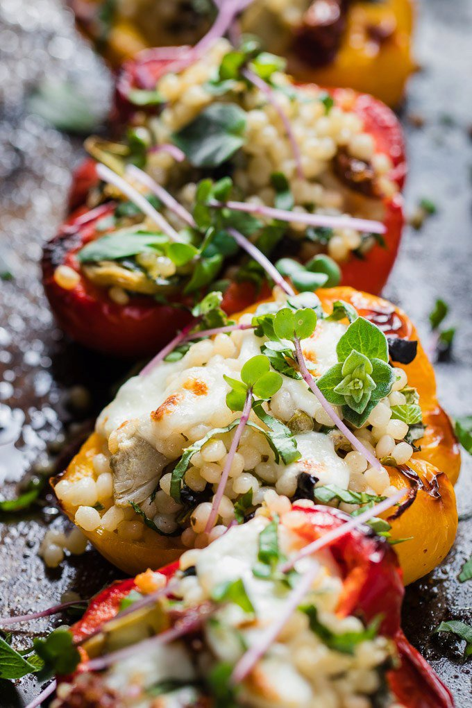 Cous Cous Stuffed Peppers
