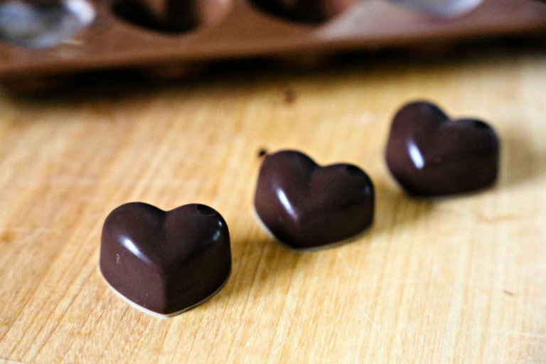 Low Carb Chocolate Hearts
