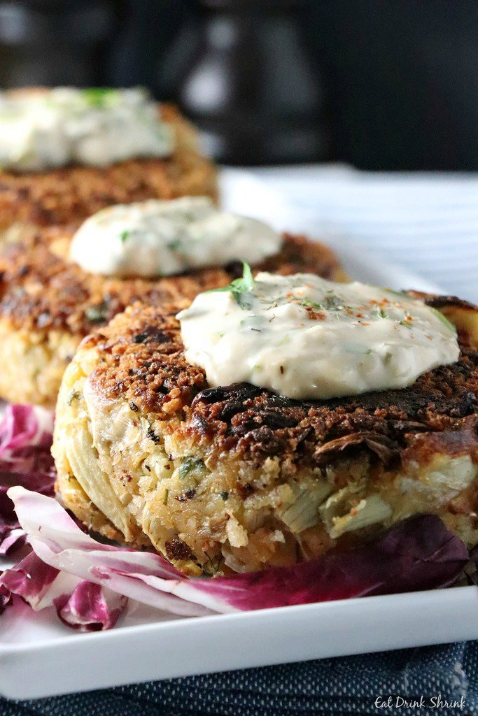 Vegan Crab Cakes with remoulade sauce