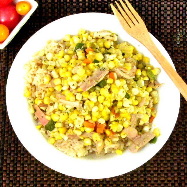15 Minute Dinner – Corn and Chicken