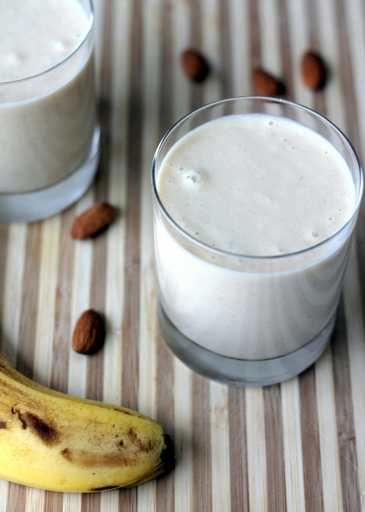 Vegan Almond Butter Banana Oatmeal Smoothie