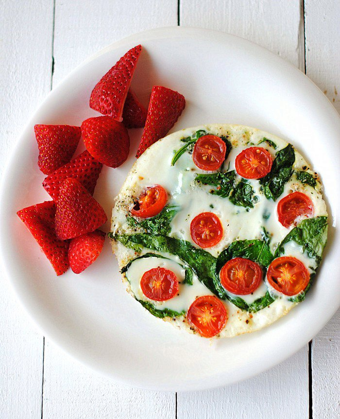 Spinach and Egg White Omelet