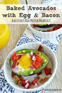 Baked Avocados with Egg and Bacon | A Delicious High Protein Breakfast!