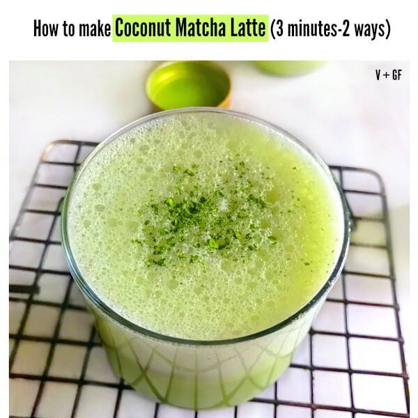 How to make Coconut Matcha Latte (3 minutes-2 ways)