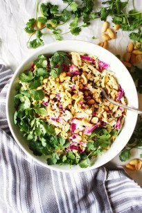 Crunchy Cabbage Salad with Peanut Dressing [21 Day Fix]