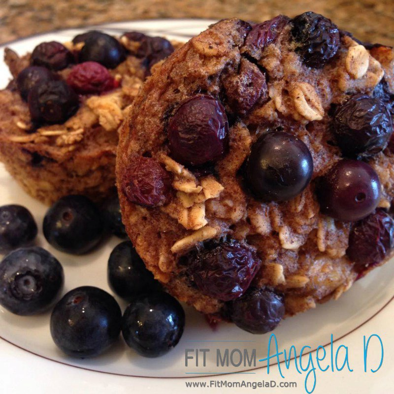 21 Day Fix Blueberry Baked Oatmeal Cups