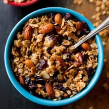 Maple Almond Cranberry Granola