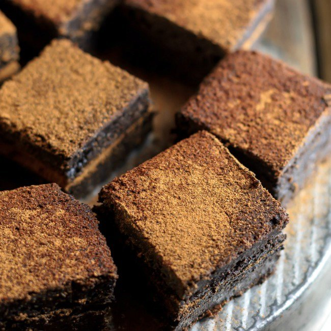 Mexican Hot Chocolate Double Fudge Brownies | vegan and gluten free