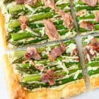 Easy Asparagus Tart with Puff Pastry