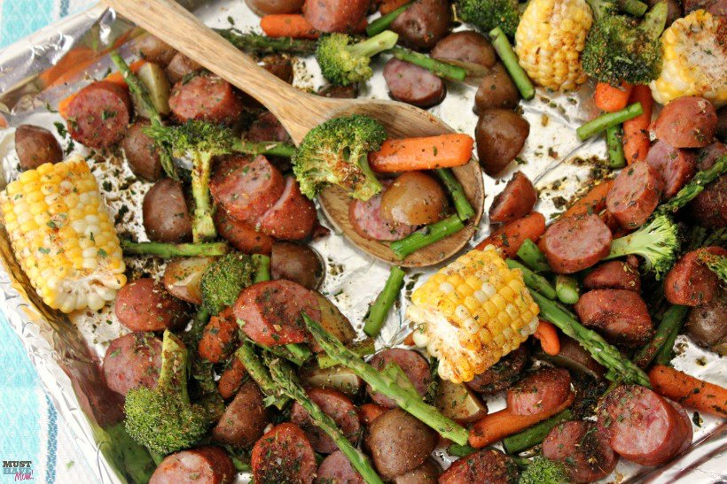 Sheet Pan Dinners Easy Sausage & Veggie Recipe!