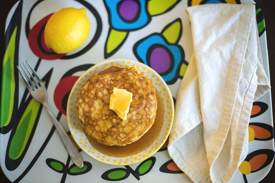 Low Carb Pancakes with Lemon and Cream Cheese