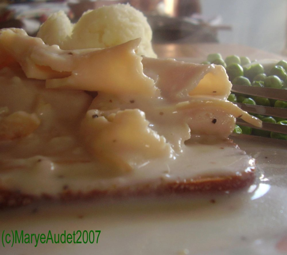 Hot, Open-Faced Turkey Sandwich