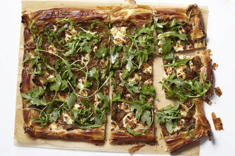 Caramelized Onion and Phyllo Tart