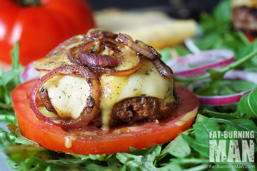 Maple Bacon Duck Burgers with Caramelized Onion