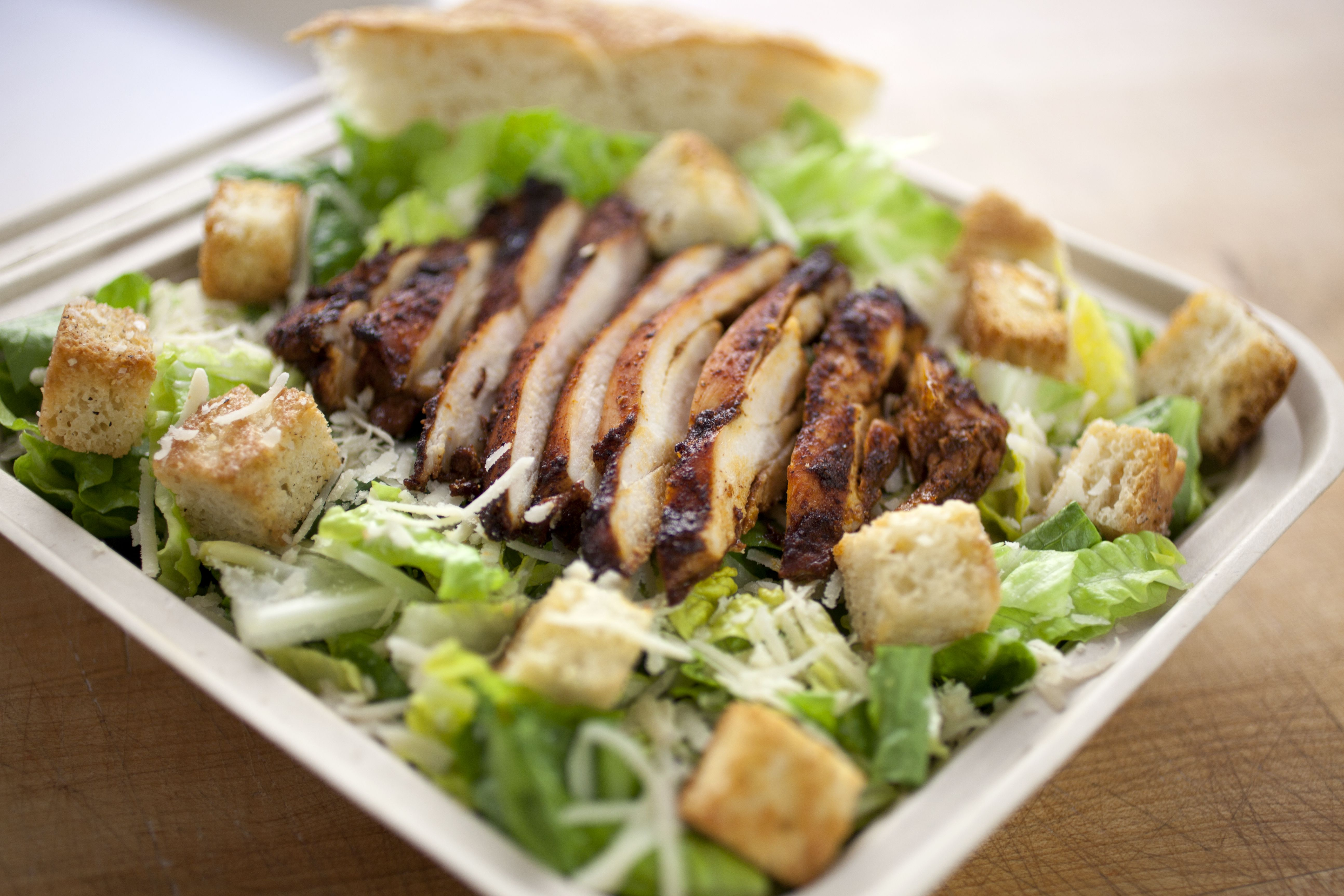 Chicken Caesar Salad With Homemade Creamy Caesar Dressing Recipe