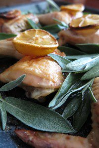 Oven Roasted Chicken with Lemon and Sage (AIP, Paleo)