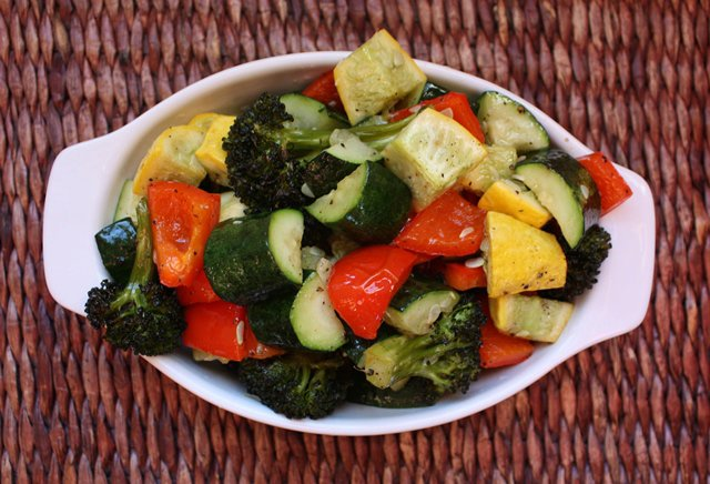 Roasted Bell Peppers, Broccoli and Squash