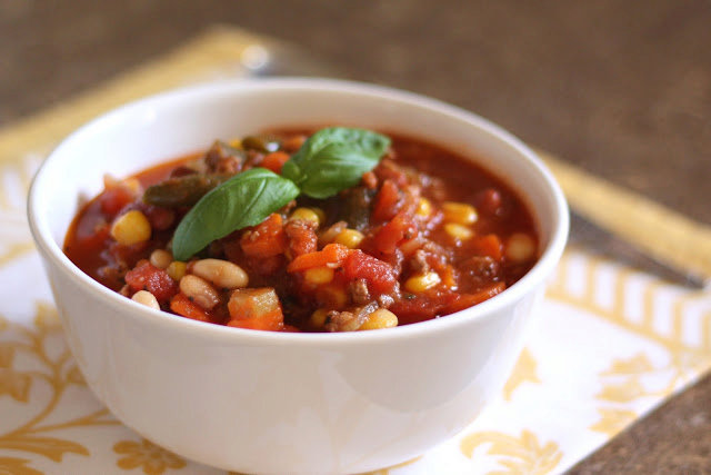 Hearty Italian Beef, Bean, and Vegetable Stew