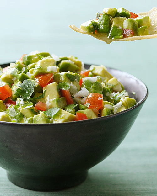 Chunky Guacamole with Serrano Peppers