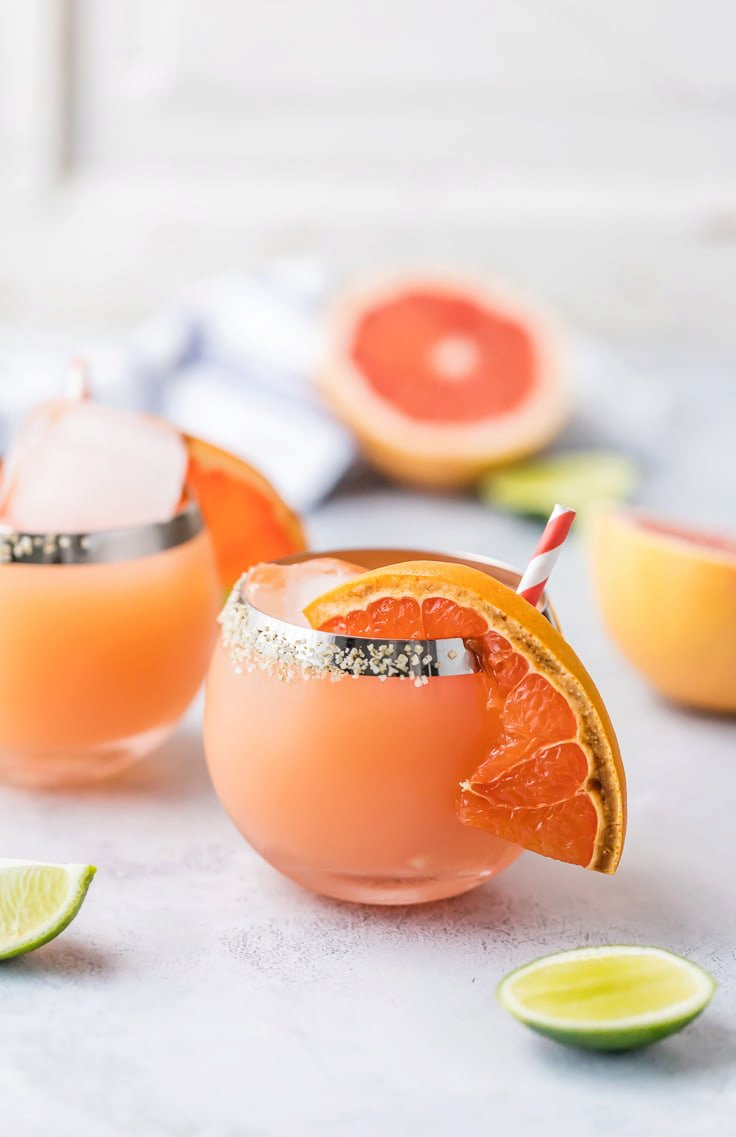 Broiled Grapefruit Margarita