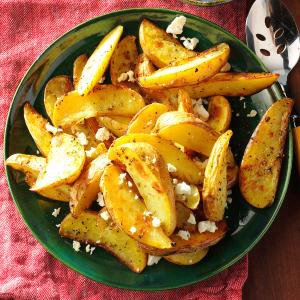 Roasted Greek Potatoes with Feta Cheese Recipe