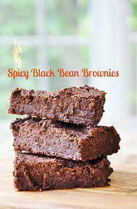 Spicy Vegan Black Bean Brownies