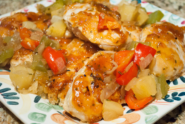 Hawaiian Chicken Breasts with Sweet Bell Peppers and Pineapple