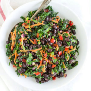 Easy Black Bean and Kale Salad