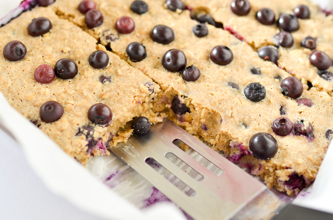 One Dish Baked Blueberry Oatmeal