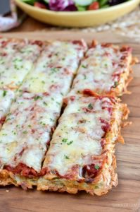 Syn Free Hash Brown Waffle Pizza